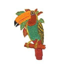 Patch - Strijkplaatje Toekan vogel