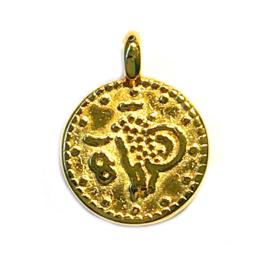 Mini muntje Glimmend Goud