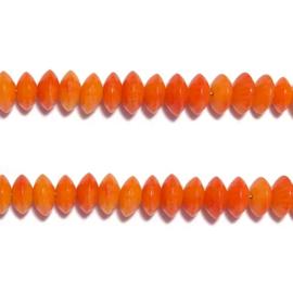 Ronde Disc kraal Oranje bamboe koraal