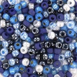 Miyuki Rocailles 8/0 Blauw mix