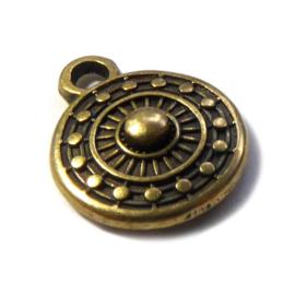 Tibetaans Bedel muntje mat goud