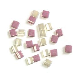 Miyuki Tila 5 x 5mm Ceylon pearl en roze