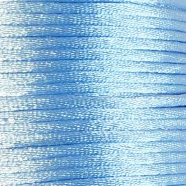 Satijnkoord 2,5mm Licht Blauw cartierknoop