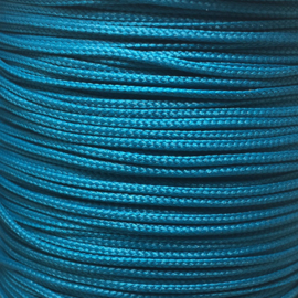 Koord 0,8 of 1,5 mm Aqua Petroleum blauw