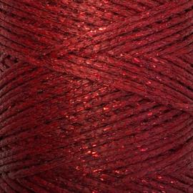 Rood metallic waxkoord 1mm