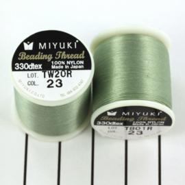 Miyuki Beading Thread 330dtex 23 Sea foam groen