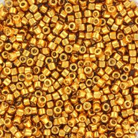 Miyuki Delica Duracoat galvanized Geel Goud 2mm