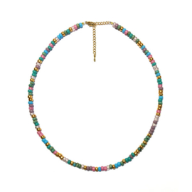 Ketting Rocailles Sunny colormix