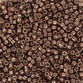 Miyuki Delica Galvanized dark mauve bruin koper 2mm