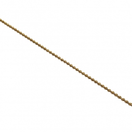 Ballchain Goud Verguld 1,5mm