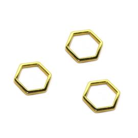 Bedel Zeshoek honingraat hexagon Goud