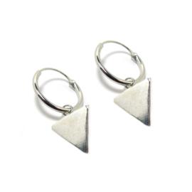 Oorringetjes Driehoek Zilver 12mm