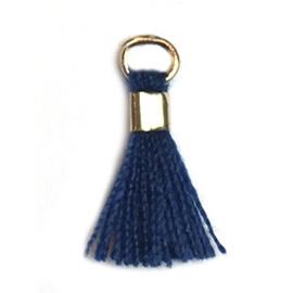 Kwastje Donker blauw navy