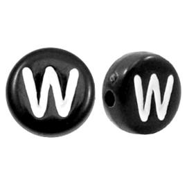 Letterkraal Rond zwart W