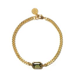 Armband schakel steen groen