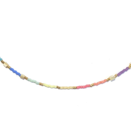 Ketting Miyuki Rainbow schelp
