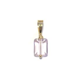 Bedel Hanger Lichtroze kristal