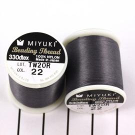Miyuki Beading Thread 330dtex 22 Donker grijs