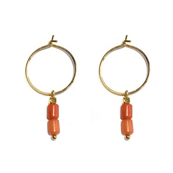 Oorringen Oranje Jade goud
