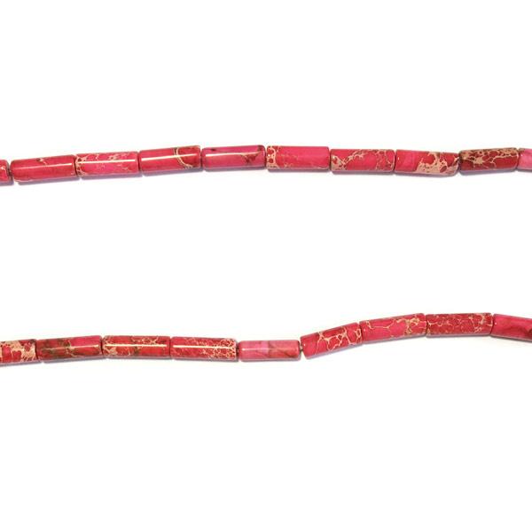 Roze Howlite Halfedelsteen kraal staafje