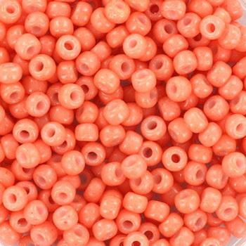 Miyuki Rocailles 8/0 Opaque dark salmon roze