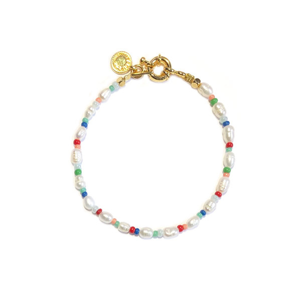 Armband Zoetwaterparel Rocailles
