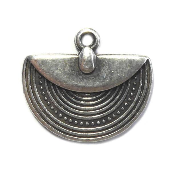 Tibetaans Bedel waaier mat zilver