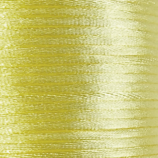 Satijnkoord 2,5mm Pastel geel cartierknoop