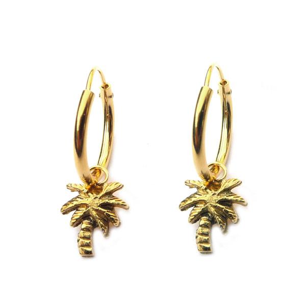 Oorbellen Palmboom goud