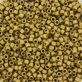 Miyuki Delica Mat luster golden olive 2mm