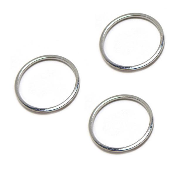 Open ring 16 mm bedel verzilverd