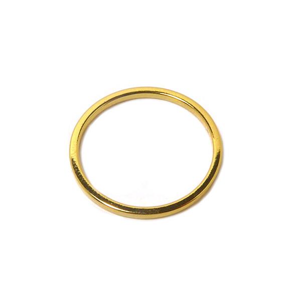 Open ring 12mm verguld bedel