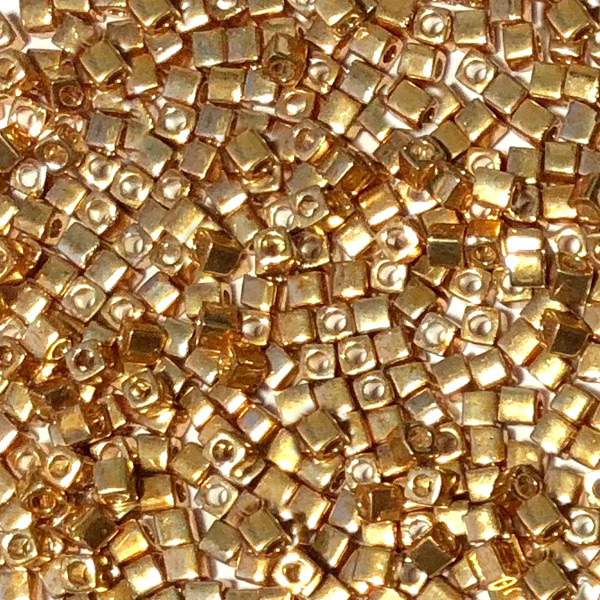 Miyuki Cube beads Goud
