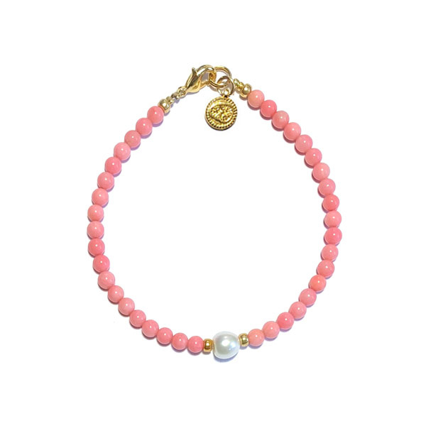 Armband Roze Zoetwaterparel Wit