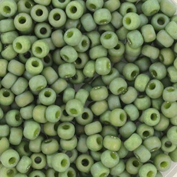 Miyuki Rocailles 8/0 Opaque glazed frosted pistachio