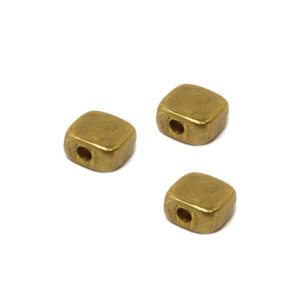 Kraal vierkant plat goud