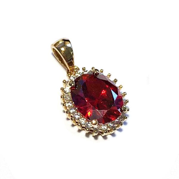 Hanger Vintagelook Rood kristal