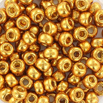 Miyuki Rocailles 6/0 Duracoat galvanized geel goud