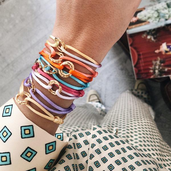 Armband Cartierknoop Infinity Satijnkoord