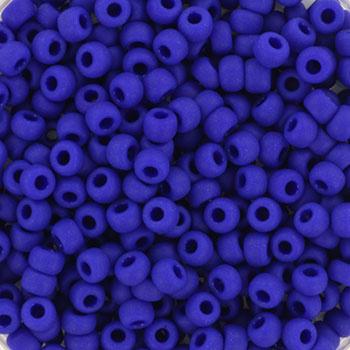 Miyuki Rocailles 8/0 Opaque mat kobalt blauw