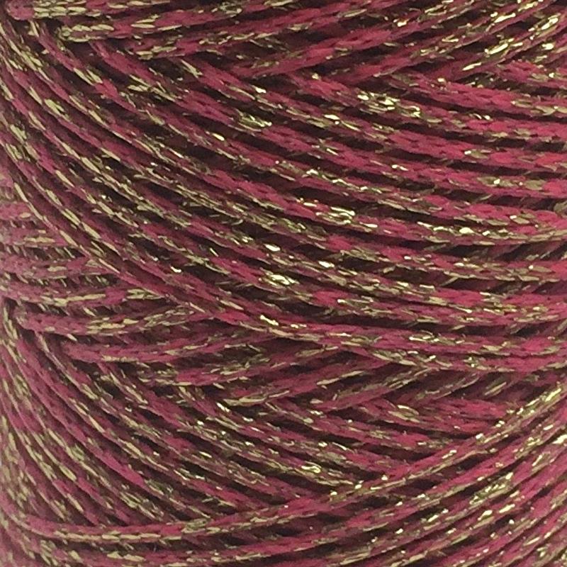 Waxkoord Donker roze Goud