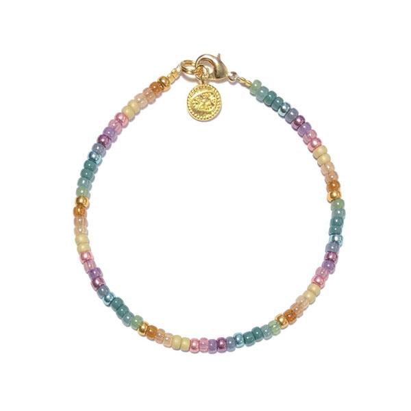 Armband Miyuki Rocailles Metallic Rainbow