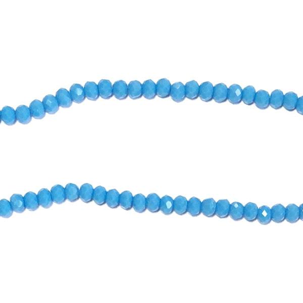 Streng glaskralen facet Blauw