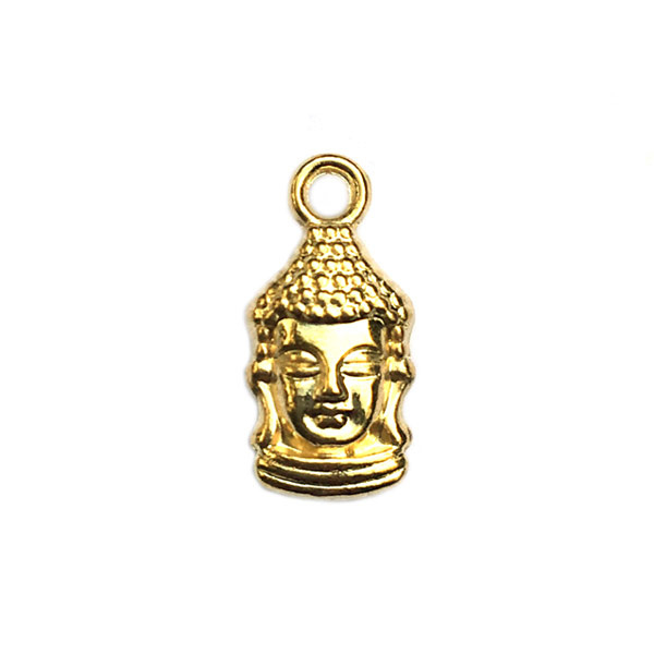 Bedel Buddha hoofd goud