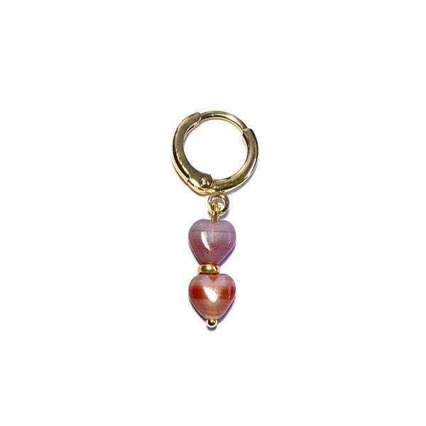Oorbel Heart Bordeaux