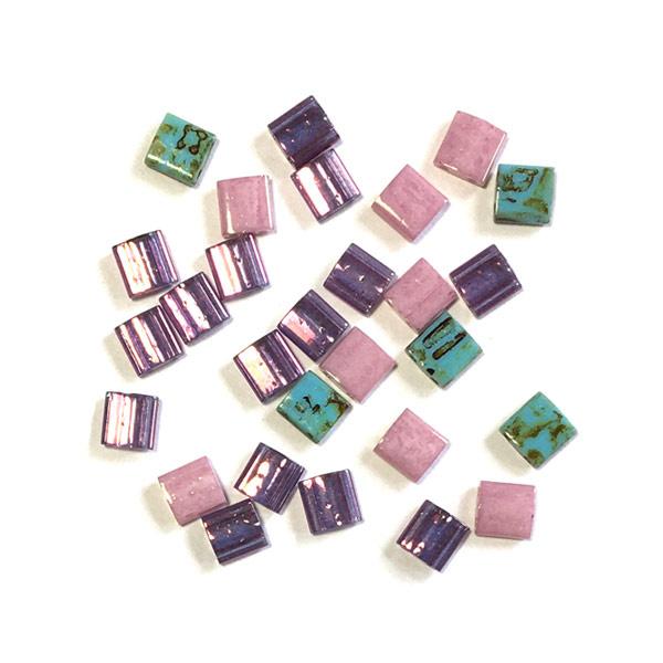 Miyuki Tila 5 x 5mm Roze Paars Picasso turkoois