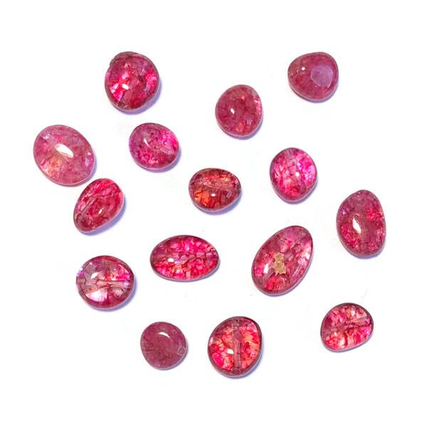 Crystal Half edelsteen kraal Roze