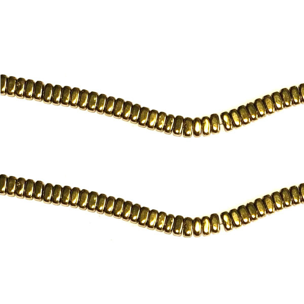 Rechthoekige kraal goud hematiet