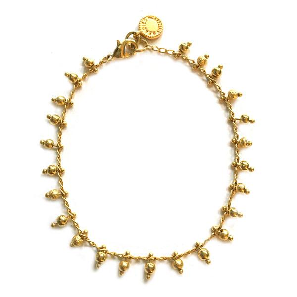 Armband goud schakel Vintage look