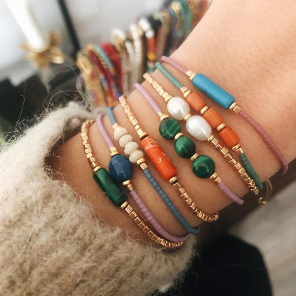 Armband Miyuki Lila turkoois